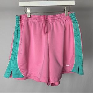 Pink and Teal Nike Shorts